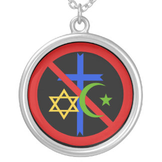No Religion Round Pendant Necklace