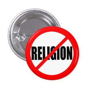 """NO RELIGION"" PINBACK BUTTON"