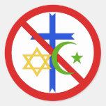 No Religion Round Sticker