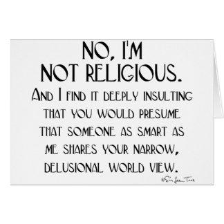 No religioso tarjeta de felicitación
