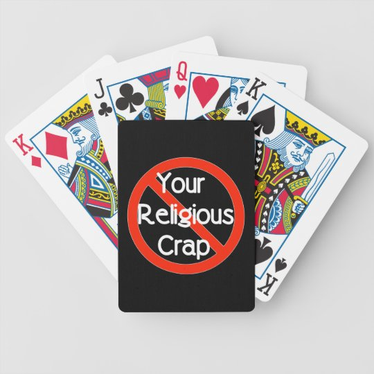 No Religious Crap Bicycle Playing Cards