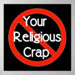 No Religious Crap Poster