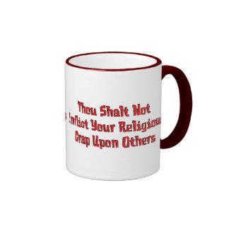 No Religious Crap Ringer Mug