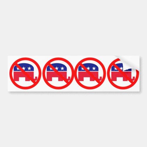 No Republicans Bumper Sticker