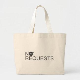 No Requests - DJ Disc Jockey Music Vinyl Canvas Bags
