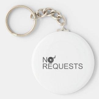 No Requests - DJ Disc Jockey Music Vinyl Keychain