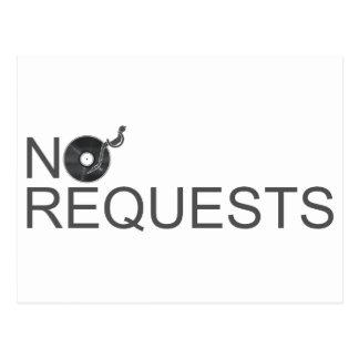 No Requests - DJ Disc Jockey Music Vinyl Postcard