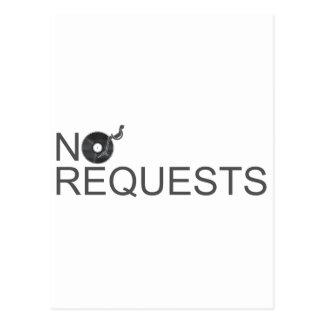 No Requests - DJ Disc Jockey Music Vinyl Postcards