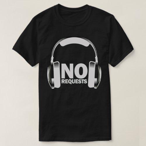 No Requests Headphones T-Shirt Black