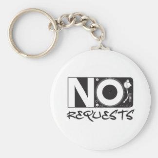 No Requests Keychains