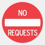 NO REQUESTS Sticker #2