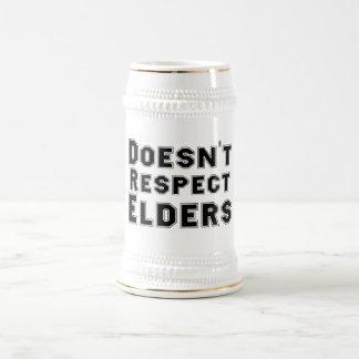 No respeta a las ancianos Stein Taza De Café