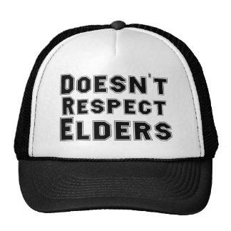 No respeta ancianos gorras de camionero