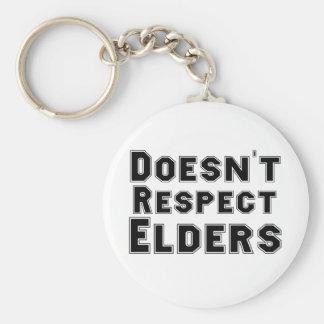No respeta ancianos llaveros personalizados