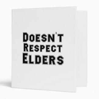 No respeta la carpeta de las ancianos