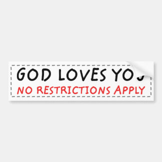 No Restrictions Bumper Stickers