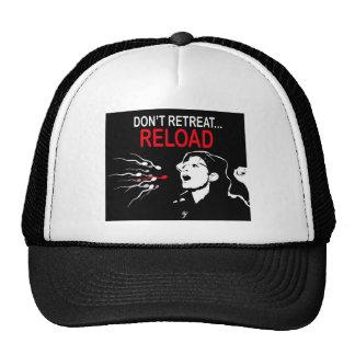 No retire… el casquillo de la recarga gorras