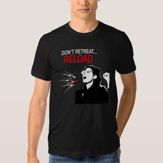 No retire la camiseta de la recarga remera