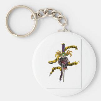 No Retreat, No Surrender merchandise Basic Round Button Keychain