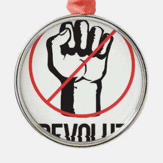 no revolution metal ornament