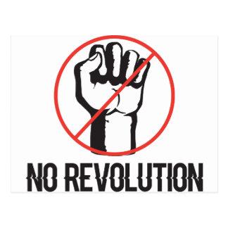 no revolution postcard