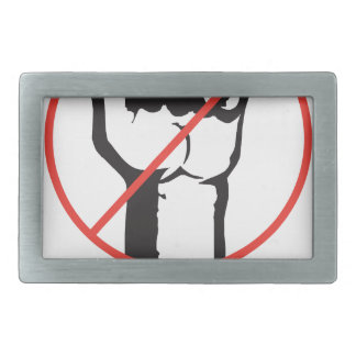 no revolution rectangular belt buckle