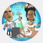 No rey Yet Etiqueta Redonda