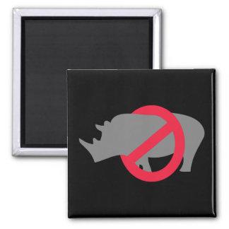 No Rhinos - Rino Buster Magnet