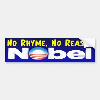 No Rhyme No Reason Car Bumper Sticker