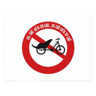 No Rickshaws Allowed, Traffic Sign, Vietnam Postcard