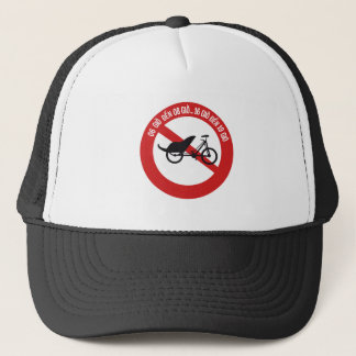 No Rickshaws Allowed, Traffic Sign, Vietnam Trucker Hat