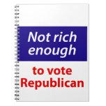 No rico bastante votar al republicano libros de apuntes