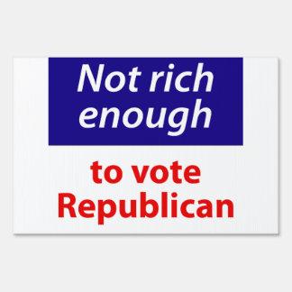 No rico bastante votar al republicano señal