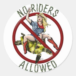 No Riders Allowed Classic Round Sticker
