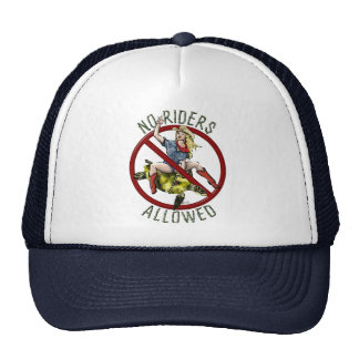 No Riders Allowed Mesh Hat