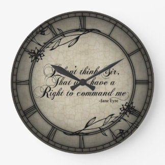 No Right To Command Me Large Clock