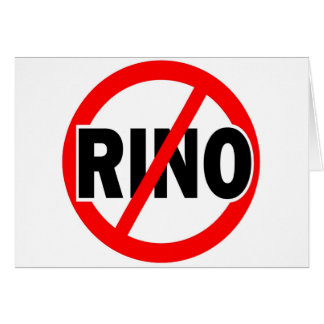 NO RINO - republican/conservative/neocon/liberty Card