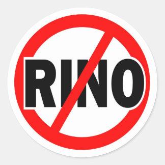 NO RINO - republican/conservative/neocon/liberty Classic Round Sticker