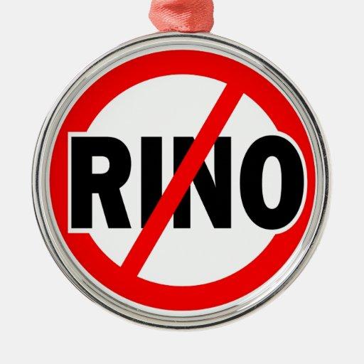 NO RINO - republican/conservative/neocon/liberty Christmas Tree Ornaments