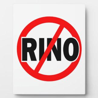 NO RINO - republican/conservative/neocon/liberty Photo Plaques