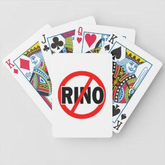 NO RINO - republican conservative neocon liberty Bicycle Card Decks