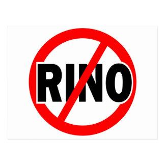 NO RINO - republican/conservative/neocon/liberty Postcard