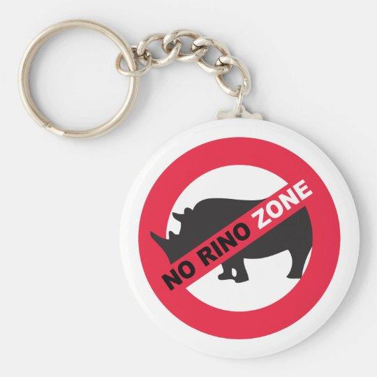 No Rino Zone Keychain