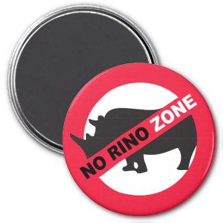 No Rino Zone Magnet
