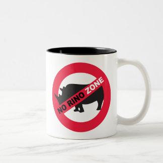 No Rino Zone Two-Tone Coffee Mug