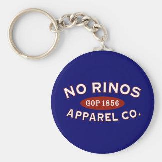 No RINOs Apparel Co. Basic Round Button Keychain