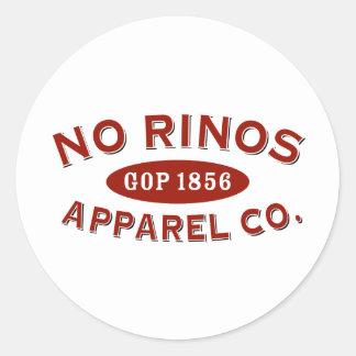No RINOs Apparel Co. Classic Round Sticker