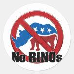 No RINOs Classic Round Sticker