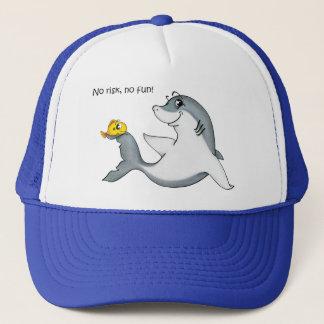 """No risk, no fun"" Sharkasm hat"