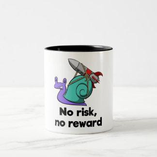 No risk, no reward (mug) Two-Tone coffee mug